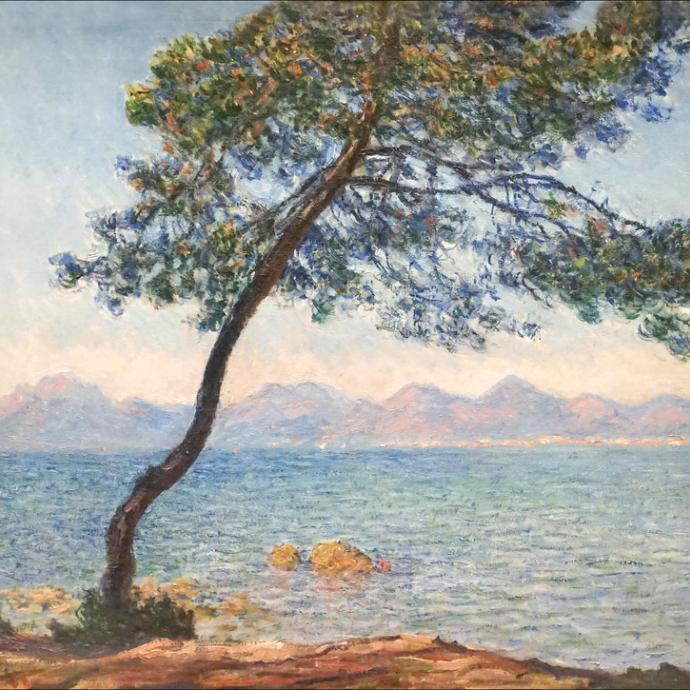 Monet, Renoir and Chagall and their travel in the Mediterranean Sea